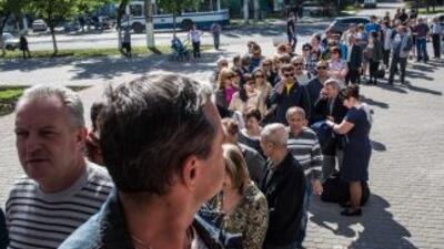 Alta asistencia en el referéndum del este de Ucrania.