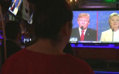 Reacciones de un grupo de republicanos en Houston tras el último debate...