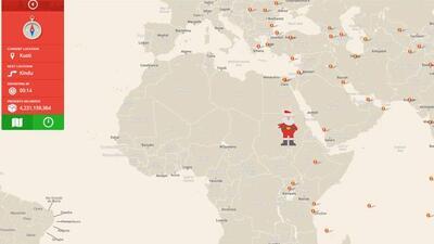 Sigue a cada paso el recorrido de Papa Noel por el mundo.