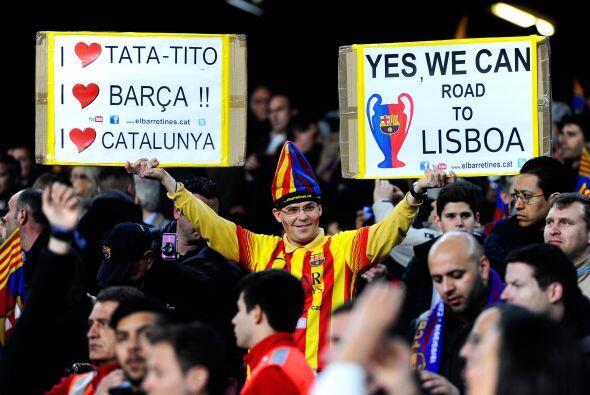 La Champions League volvía al césped del Camp Nou en Barce...