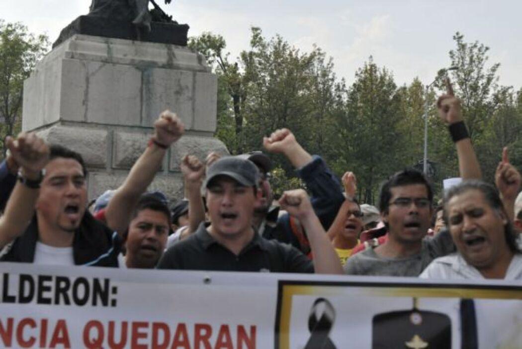 El poeta Javier Sicilia asistió a la manifestación en Cuernavaca, a 90 k...