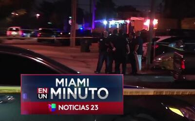 'Miami en un Minuto': hombre fue baleado en Hallandale Beach mientras co...