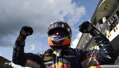 El australiano festeja tras salir vencedor en el circuito de Spa-Francor...