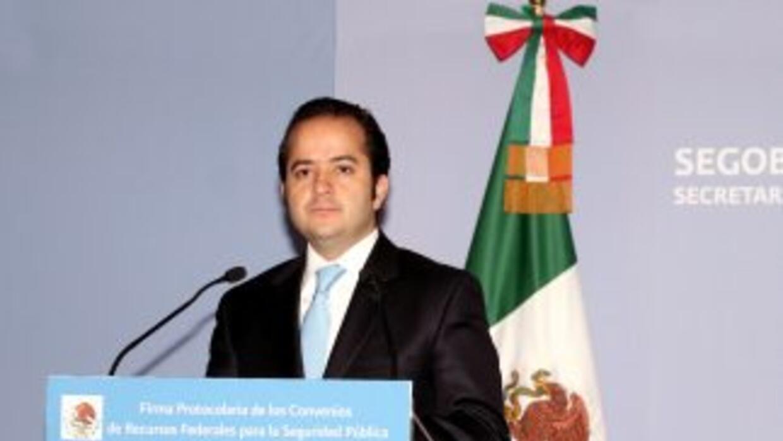 Alejandro Poiré, titular de la Secretaría de Gobernación.