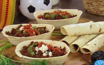 Receta muy mexicana de Machaca con Chorizo en La Cocina de Karla