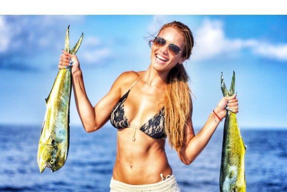 Nunca nos imaginamos que a Zuleyka le gustara eso de la pesca.