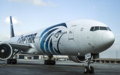 Una aeronave de EgyptAir.
