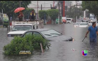 Las lluvias azotan con fuerza la Ciudad de México