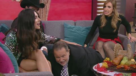 Así se puso Alejandra Espinoza con Raúl de Molina que tuvo que arrodilla...