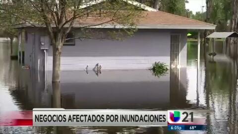 Negocios afectados por inundaciones