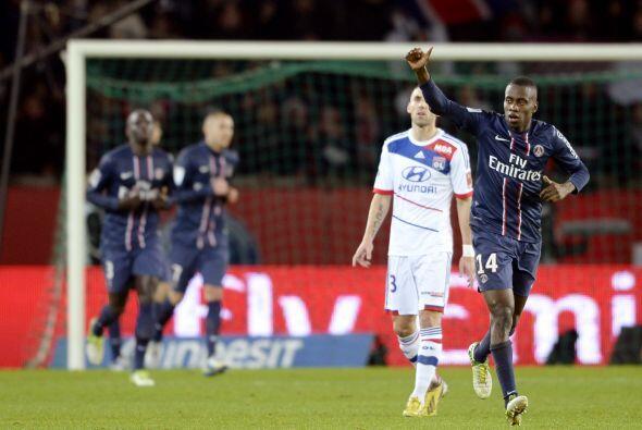 Matuidi logró el gol con el que el PSG se impuso al Lyon, para ar...