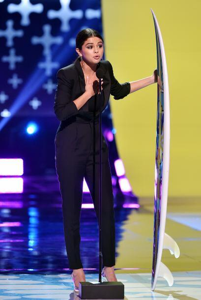 Selena Gomez fue de las consentidas de la noche.