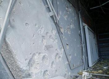El estadio del Shakhtar Donetsk, el Donbass Arena, fue dañado por...