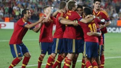 THiago hizo los tres primeros goles de España.