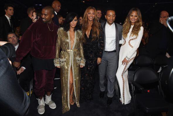 Kanye West, Kim Kardashian, Beyoncé, John Legend y Chrissy Teigen juntos...