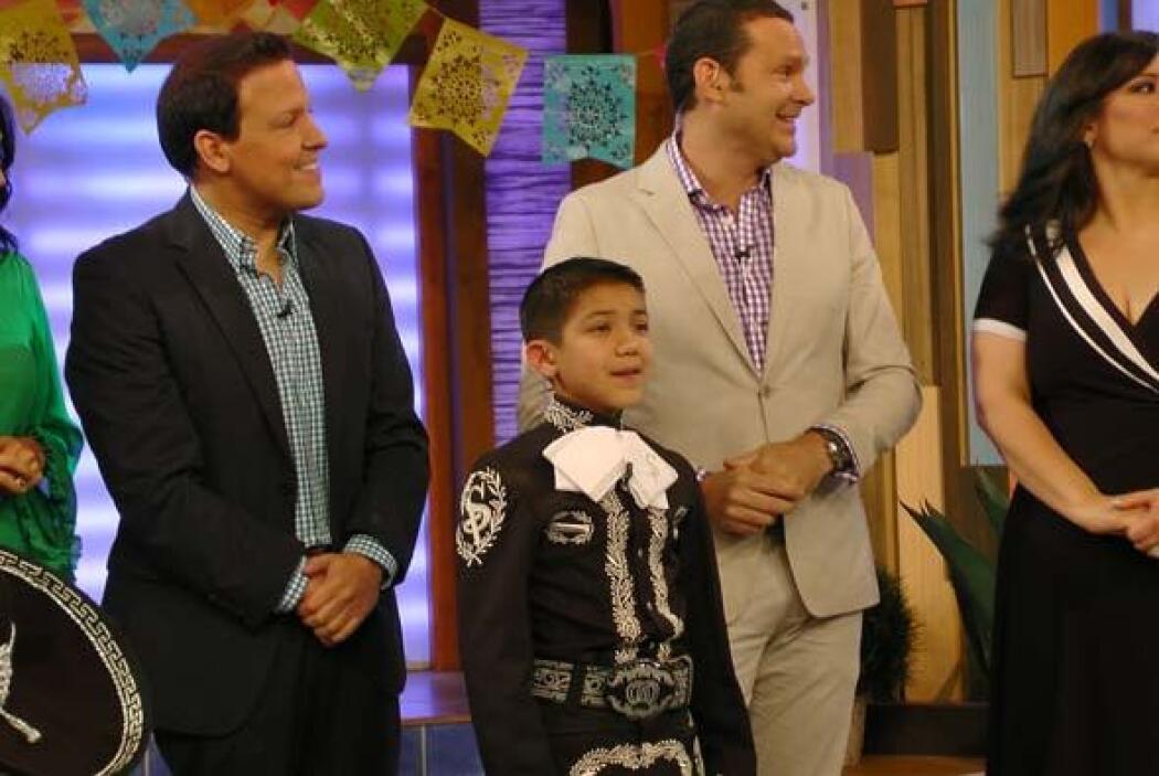 Sebastián de la Cruz se fue muy contento después de conocer a la familia...