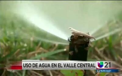Uso de agua en el Valle Central
