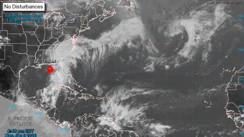 Se espera que la tormenta Colin cruce hacia el Atlántico el marte...