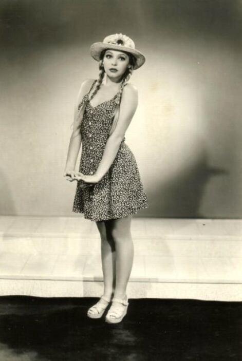 Itatí Cantoral cuando tenía aproximadamente 11 años.