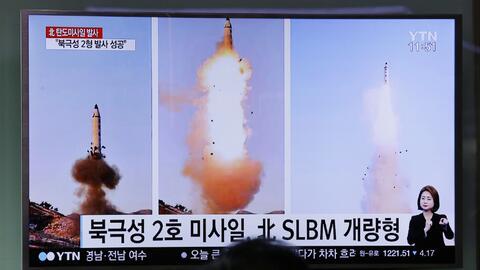 Pyongyang confirmó el lanzamiento de un nuevo modelo de misil, el Pukguk...