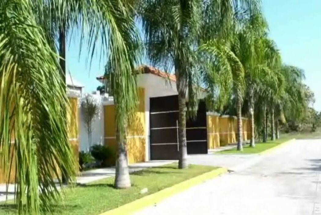 Imagen de la fachada de una de las casas aseguradas a los líderes de los...