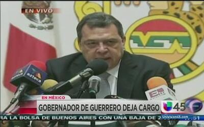 Gobernador de Guerrero deja su cargo