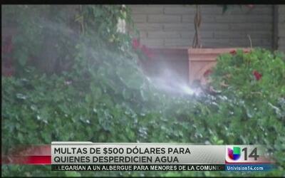 Multas de 500 dólares para quienes desperdicien agua