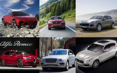 El segmento de las Super-SUVs muestra una importante variedad de marcas...