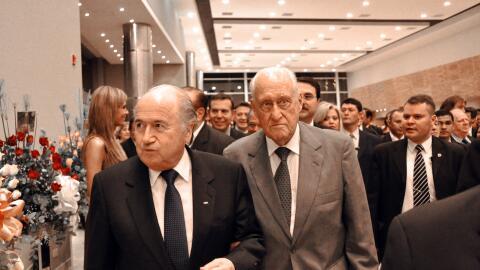 Joseph Blatter y Joao Havelange