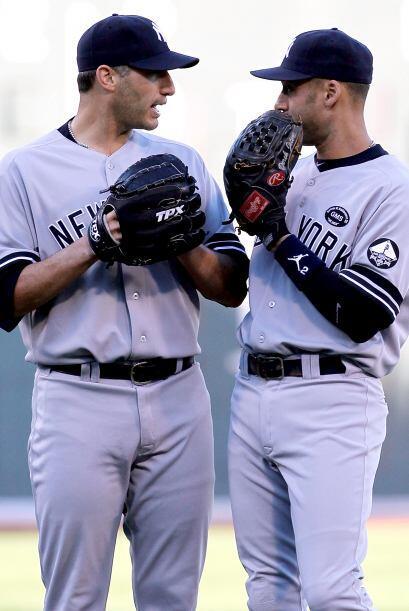 Andy Pettitte y Derek Jeter son emblemas del equipo de Nueva York.