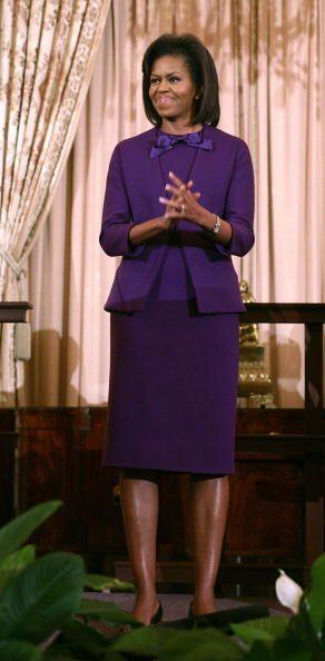 No es la típica mujer que viste de negro por vivir en la Casa Blanca, y...