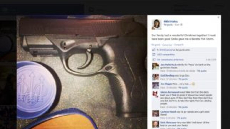 Este es la image del post de la Gobernadora. (Fotografía tomada de Faceb...