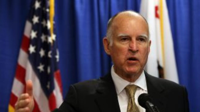 El gobernador de California, Jerry Brown.
