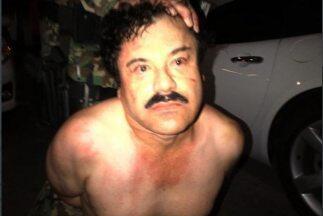 El Chapo Guzman en el momento que fue capturado en febrero de 2014.