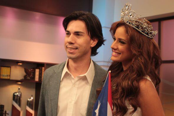 Durante todo su recorrido por Univision Puerto Rico, Aleyda no par&oacut...