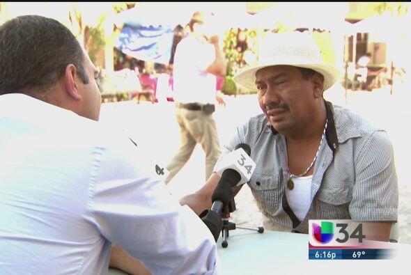 El próximo protagonista de La Mesa fue Julio Castillo, un inmigrante ecu...