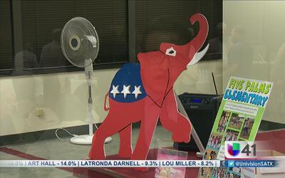 Noche calmada en sede del partido republicano en San Antonio