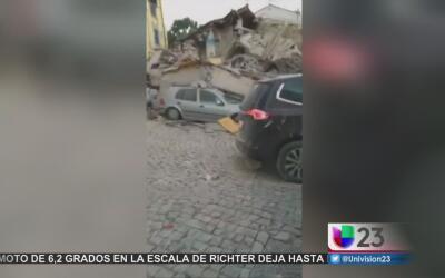 Terremoto en Italia deja a decenas muertos y a cientos atrapados bajo lo...
