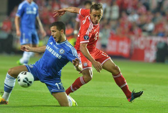 La primera mitad terminó con la ventaja mínima de los 'Blues'.