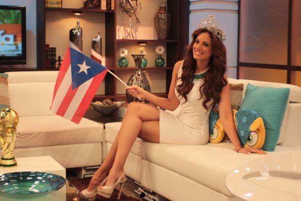 Aleyda muy orgullosa de ser puertorriqueña, y lo dejó muy...