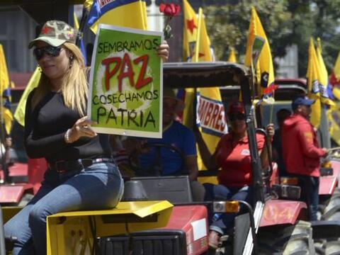 Marcha en favor de Maduro