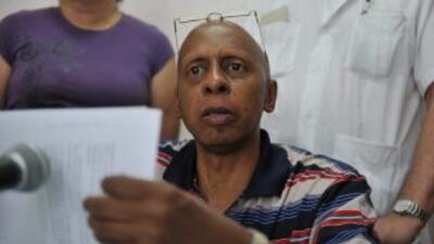 El disidente cubano Guillermo Fariñas.