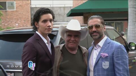 Todo la familia Fernandez fue a apoyar al hijo del Potrillo y su nuevo r...