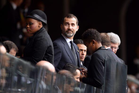 El príncipe Felipe de España llegó a la ceremonia c...