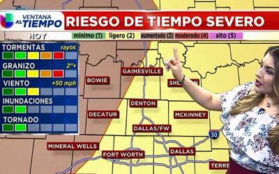 'Dallas en un Minuto': posibles tormentas severas, el pronóstico del tie...