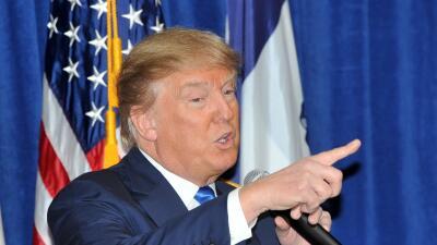 Donald Trump durante un evento en Iowa.