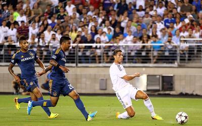 Como jugador del Real Madrid Cristiano Ronaldo enfrentó al Galaxy en 2013.