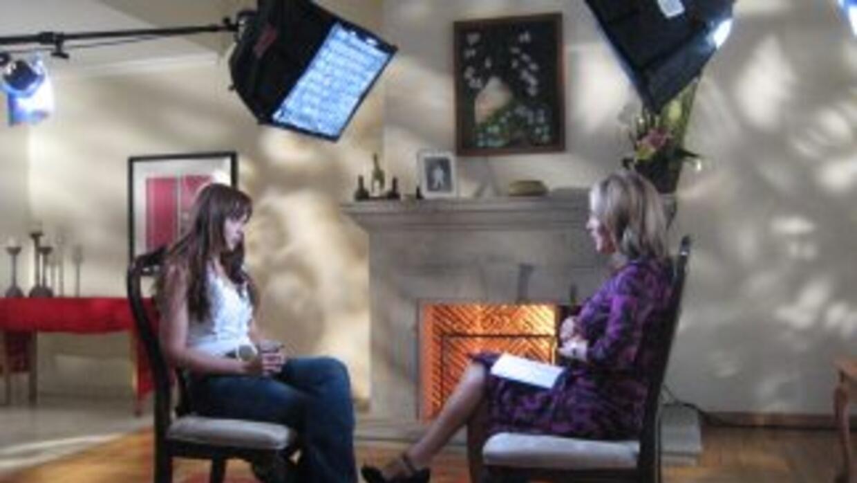 Gaby Spanic fue entrevistada por María Elena Salinas.