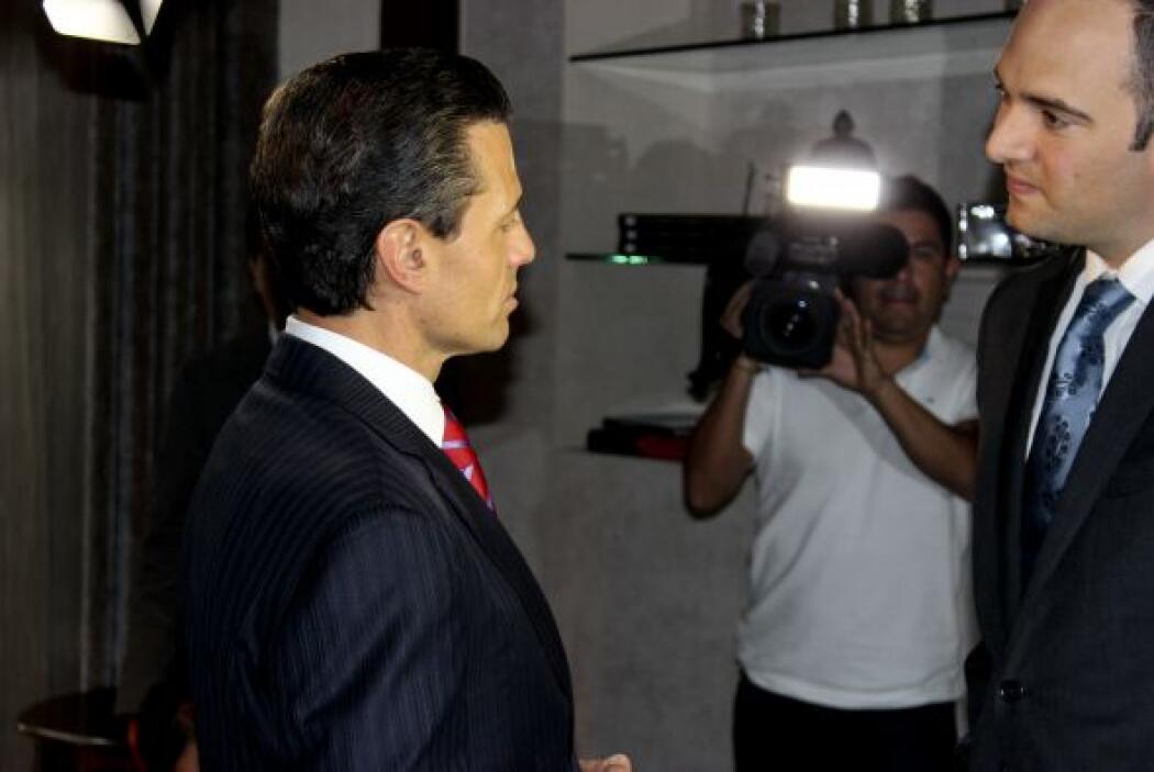 El mandatario contó que cuando recibió la noticia del arresto de El Chap...