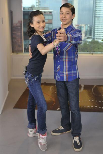 Gretchen y Max, pareja de baile del escuadrón de Megaestrellas, visitaro...